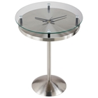 Floating Glass Clock Accent Table