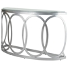 Alchemy Half Moon Console Table - Frosted Glass Top