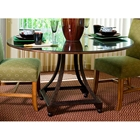 Bianca Dining Table - Metallic Bronze Base, 48 Glass Round Top