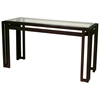 Paulette Metal Console Table - Cast Brass, Beveled Glass Top