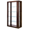 Dado 5-Tier Display Unit - Espresso, Clear Glass Shelves
