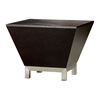 Sebring Wood Occasional Table - Mocha on Oak, Stainless Steel