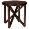 Snowmass Round End Table - Espresso on Birch, Asterisk Base