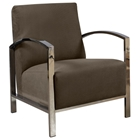 Teresa Contemporary Lounge Chair - Polished Stainless Steel