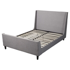 Amber Upholstered Bed - Gray Linen