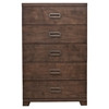 Savannah 5-Drawer Chest - Pecan
