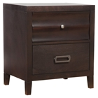 Legacy 2-Drawer Nightstand - Black Cherry