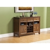Albany Dark Oak Server - 2 Doors, 3 Drawers, Open Shelves