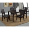 Midtown 5-Piece Dining Set with Black Upholstered Chairs - ALP-581-SET-BL