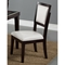 Midtown Side Chair - Espresso Finish, White Upholstery - ALP-581-02W