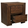 Pierre 2-Drawer Nightstand - Antique Cappuccino