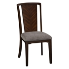 Palisades Side Chair - Fabric Cushion, Merlot Finish