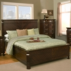 Windsor Queen Panel Bed - Dark Cherry