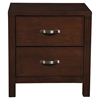 Costa Mesa 2-Drawer Nightstand - Medium Cherry