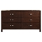 Costa Mesa 6 Drawers Dresser - Medium Cherry - ALP-NCC-03