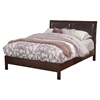 Costa Mesa Bed - Medium Cherry, Platform, Faux Leather Headboard
