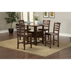 Bethany 5-Piece Counter Set - Brown Cherry