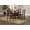 Bethany 5-Piece Counter Set - Brown Cherry - ALP-S2204