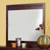Camarillo Mirror with Merlot Finished Frame