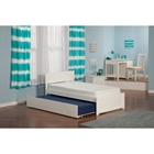 Orlando Platform Bed - Flat Panel Foot Board, Urban Trundle