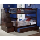 Columbia Full/Full Stairway Bunk w/ Trundle Bed
