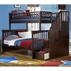 Columbia Twin Over Full Bunk Bed w/ Storage Stairs
