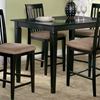 Deco 48 x 36 Solid Top Pub Table w/ Tapered Legs