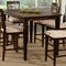 Deco 54 x 54 Modern Pub Table w/ Butterfly Leaf Extension - ATL-DE54X54PTBL
