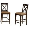 Lexington Pub Chair w/ Cappuccino Microfiber Seat