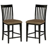 "Mission 25.5"" Pub Chair - Slat Back, Cappuccino Seat"