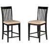"Mission 25.5"" Pub Chair - Slat Back, Oatmeal Seat"