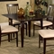 Montreal 5 Piece Dining Set w/ Square Table - ATL-MO39X39SDT5PC