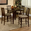 Montreal Contemporary Square Pub Table w/ 4 Pub Chairs