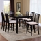 Montreal 7 Piece Contemporary Pub Set w/ Extension Table - ATL-MO60X42BLPT7PC