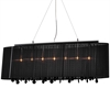 Jasmine 5 Light Crystal Chandelier - Black Fabric