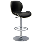 Elvis Adjustable Height Stool - Black, Chrome, Nailheads