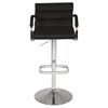 Pneumatic Gas Lift Swivel Stool - Adjustable Height, Black Seat, Chrome