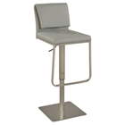 Pneumatic Stool - Gray, Brushed Stainless Steel Base