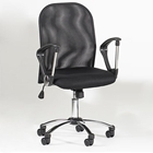 Victor Black Swivel Hydraulic Chair with Mesh Back