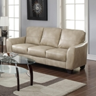 Fremont Bonded Leather Sofa - Taupe