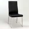 Jamila Black Side Chair with Contoured Back