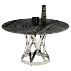 Janet Round Dining Table - Gray