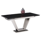 Jessy Rectangular Extension Dining Table - Black