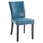 Michelle Parsons Chair - Bonded Leather, Blue (Set of 2)
