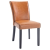 Michelle Parsons Chair - Bonded Leather, Orange (Set of 2)
