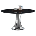 Nadine Round Dining Table - Black