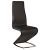 Tara High Back Side Chair - Chrome Base, Black