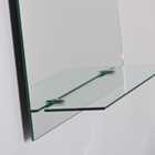 Columbus Frameless Wall Mirror with Shelf