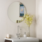 Modern Round Frameless Wall Mirror
