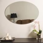 Large Oval Frameless Bathroom Mirror